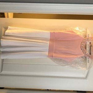 Pink/white Boutique dress - worn once, dry cleaned